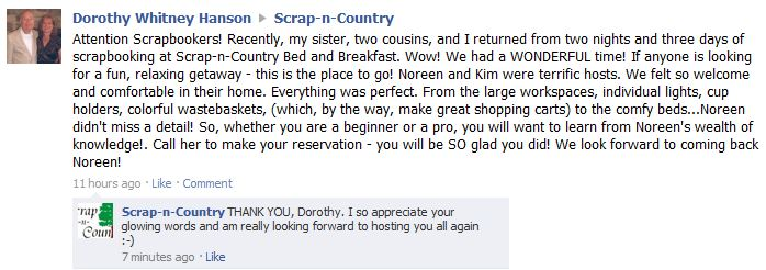 Dorothy's FB review